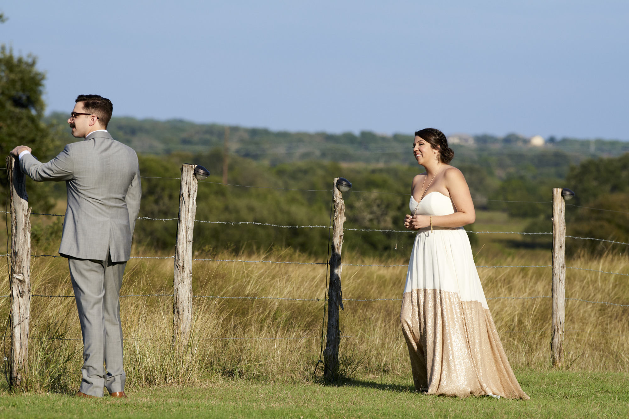 First Look, Wedding, Stonehouse Villas, Dripping Springs