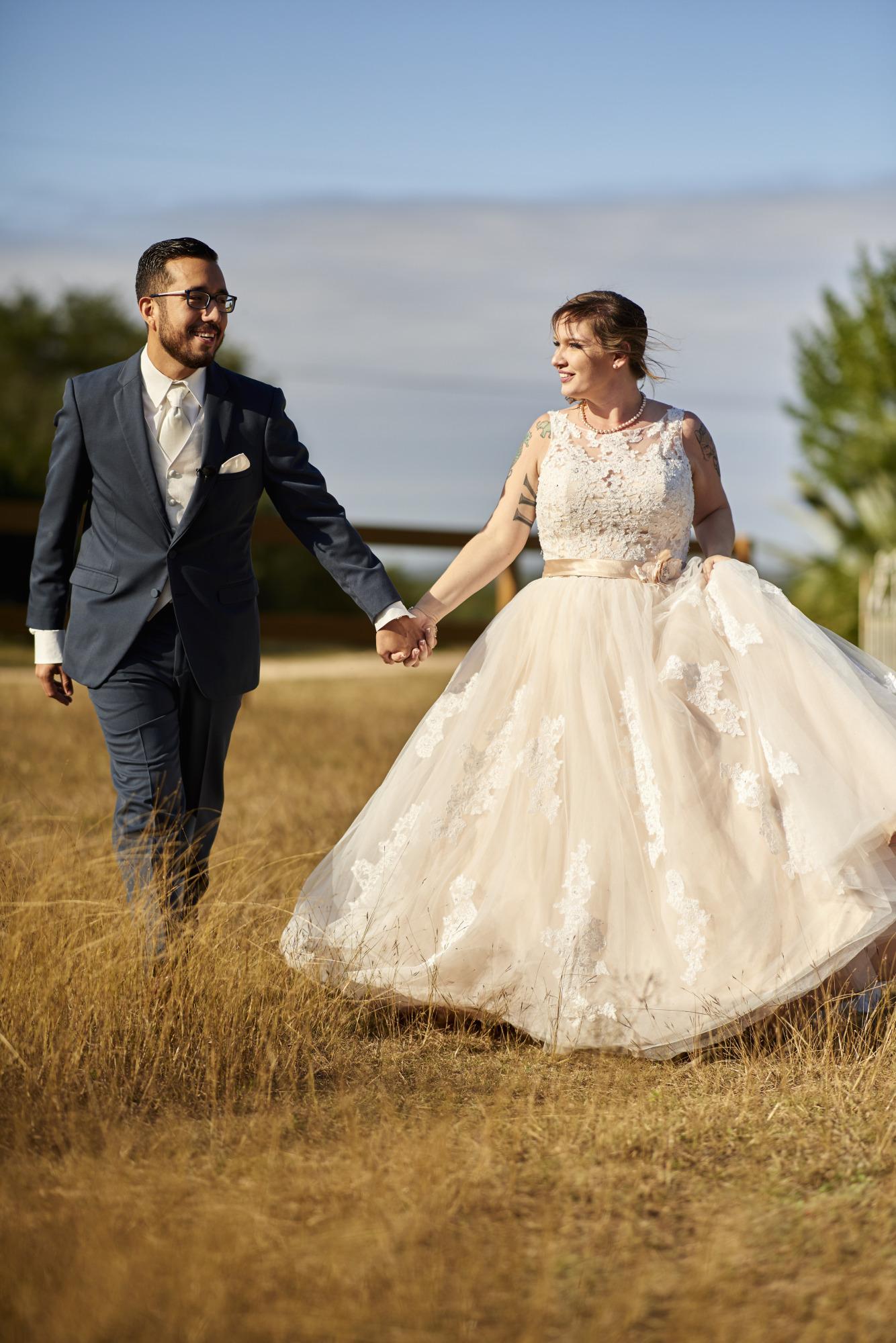 Walking Together, Wedding, Memory Lane, Dripping Springs