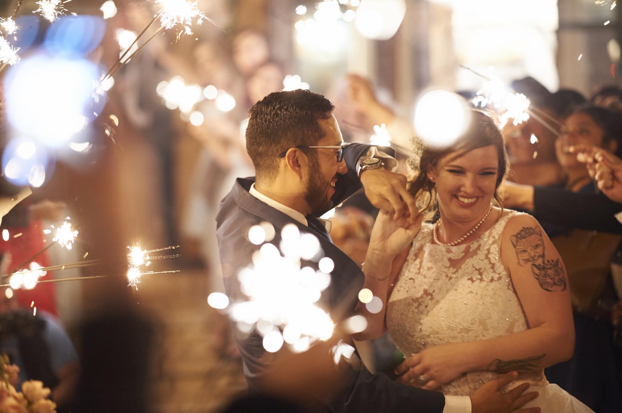 Sparkler Exit, Wedding, Memory Lane, Dripping Springs
